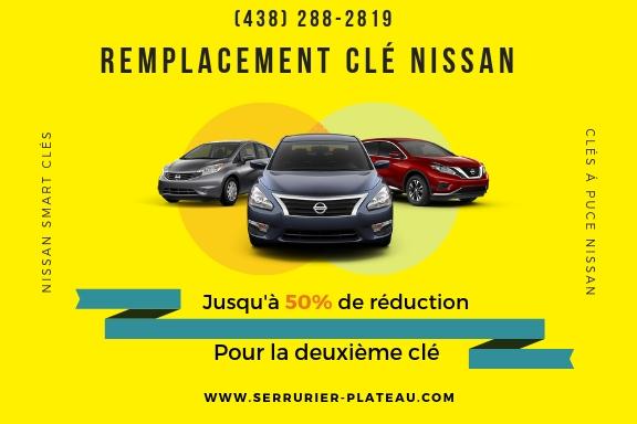 Remplacement de Clé Nissan